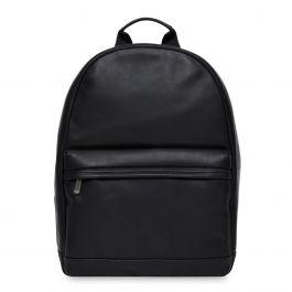 Knomo ALBION usnjeni nahrbtnik za laptop - Črna
