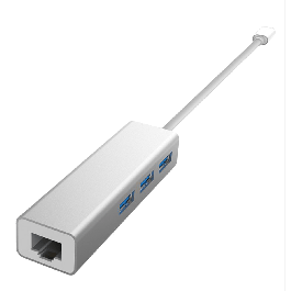 DEVIA USB-C to USB HUB + Ethernet Port