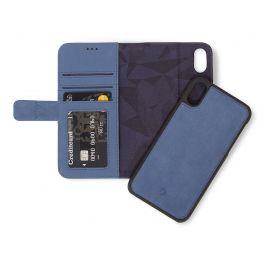 Decoded 2v1 usnjen ovitek/denarnica za iPhone XR - modra