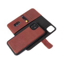 Decoded 2v1 usnjen ovitek/denarnica za iPhone 11 - rjava