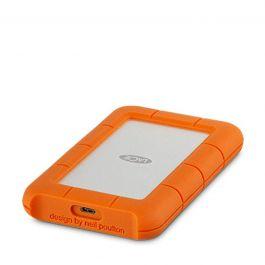 Lacie - 2TB Rugged USB-C - Silver/Orange