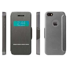 Moshi SenseCover Flip Ovitek občutljiv na dotik za iPhone 5/5S - Steel Black