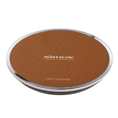 NILLKIN Wireless Fast Charger - Brown Leather