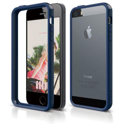 Elago S5 Bumper Case for iPhone 5s/SE - Jean Indigo