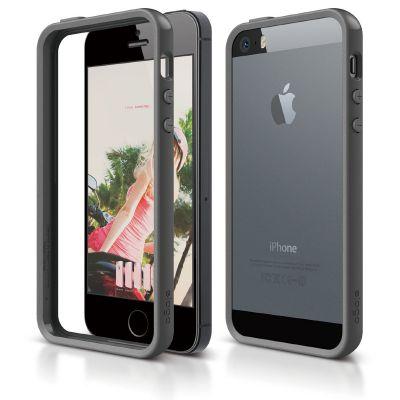 Elago S5 Bumper Case for iPhone 5/5s - Dark Grey
