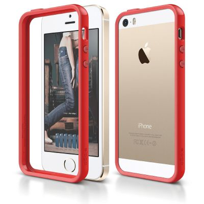Elago S5 Bumper Case for iPhone 5s/SE - Red