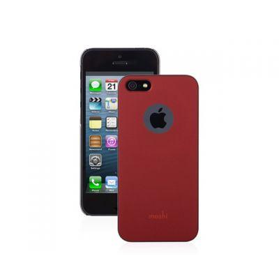 Moshi - iGlaze - HardShell Slim Case for iPhone 5s/SE - Burgundy Red