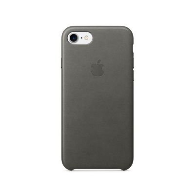 Apple - iPhone 7 Leather Case - Storm Gray
