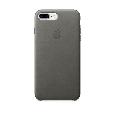 Apple - iPhone 7 Plus Leather Case - Storm Gray