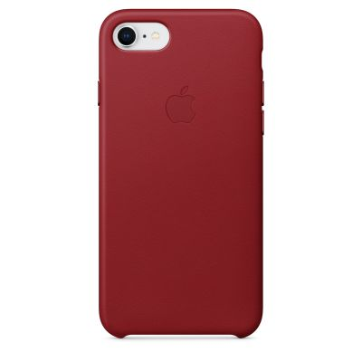 Apple - iPhone 8 / 7 Leather Case - (PRODUCT)RED