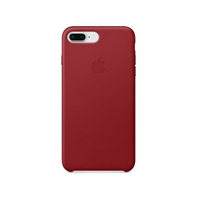 Apple - iPhone 8 Plus / 7 Plus Leather Case - (PRODUCT)RED