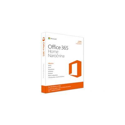 Microsoft Office 365 Home - Subscription 1YR - za 5 uporabnikov